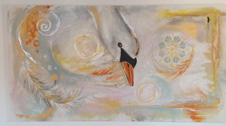 Swan (80 x 150 cm)